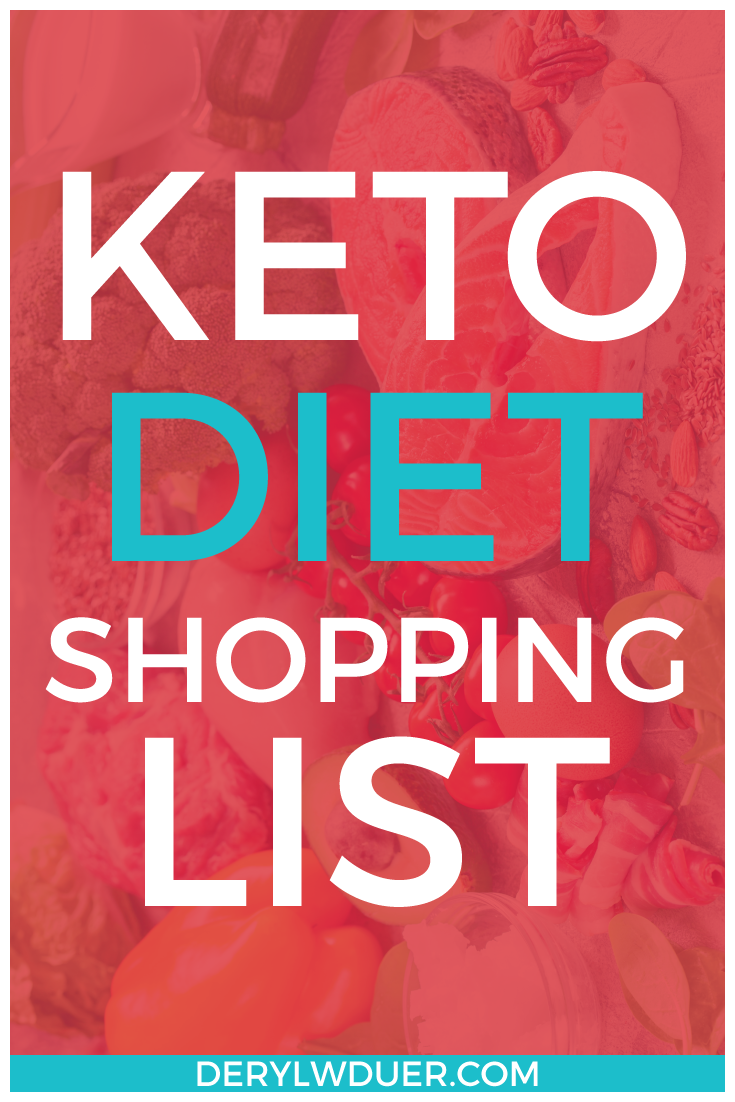 Keto Diet Shopping List Pinterest Red