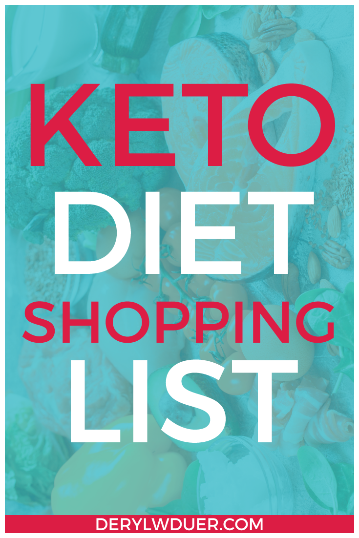 Keto Diet Shopping List Pinterest Teal